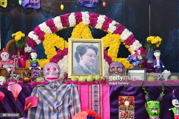 Netflix Stranger Things altar for the character Barb at the Hollywood Forever's Dia De Los Muertos celebration at Hollywood Forever on October 28...