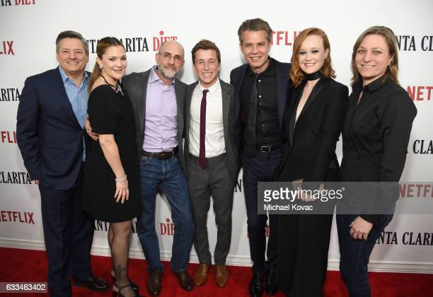 CCO Netflix Ted Sarandos Actress Drew Barrymore Executive producer Victor Fresco Actors Skyler Gisondo Timothy Olyphant Liv Hewson and VP Original...