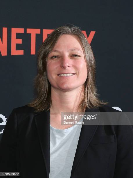 Netflix Vice President of Original Content Cindy Holland attends the 'Sense8' New York premiere at AMC Lincoln Square Theater on April 26 2017 in New...