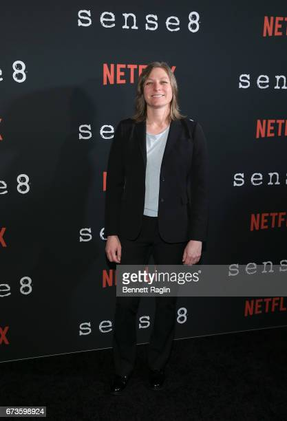 Netflix Vice President of Original Content Cindy Holland attends the Sense8 New York premiere at AMC Lincoln Square Theater on April 26 2017 in New...