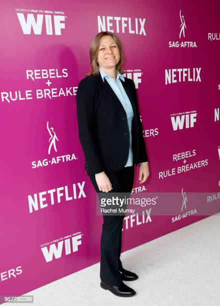 Netflix VP of Original Content Cindy Holland attends the Rebels and Rule Breakers Panel at Netflix FYSEE at Raleigh Studios on May 12 2018 in Los...