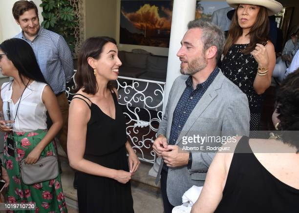 Netflix VP of Original Series Nina Wolarsky and British Consul General to Los Angeles Michael Howells attend the BAFTALA Summer Garden Party at The...