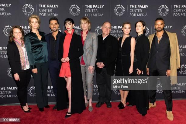 Netflix VP Original Series Allie Goss Janet McTeer JR Ramirez Krysten Ritter Melissa Rosenberg Executive Producer and Head of Marvel Television Jeph...