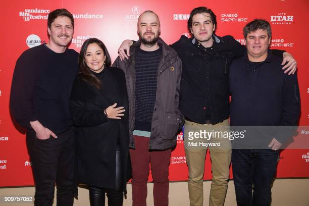 Netflixs Ben Cotner Producer Juliana Lembi Directors Chapman Way and Maclain Way and Netflixs Adam Del Deo attend the 2018 Sundance Film Festival...