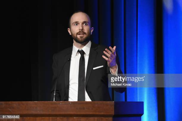 Netflix's Christopher Clark speaks onstage at the Advanced Imaging Society 2018 Lumiere Awards presented by Dell and Cisco at Steven J Ross Theatre...