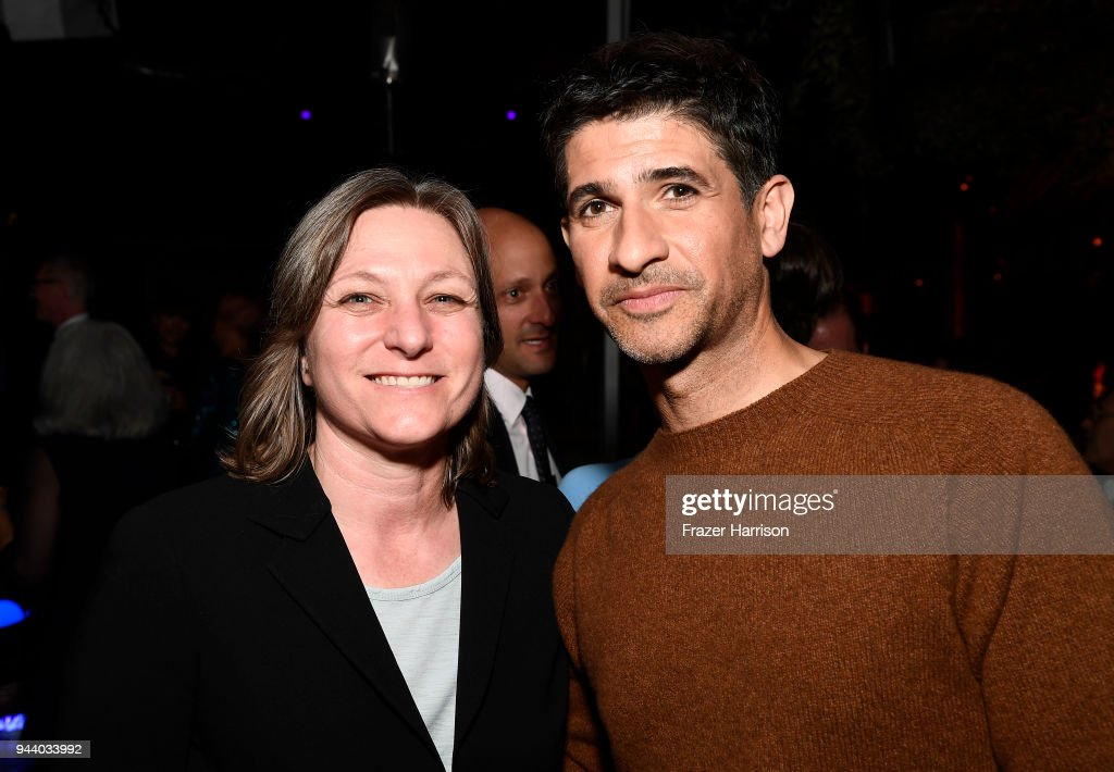 Netflix's Cindy Holland and actor Raza Jaffrey attend the Premiere Of Netflix's 'Lost In Space' Season 1 After Party at Le Jardin LA on April 9, 2018 in Los Angeles, California.