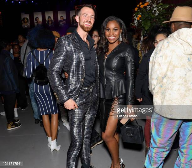 Netflix's Love Is Blind Couple Cameron Hamilton and Lauren Speed attend the Boomerang Season 2 Premiere Party on March 10 2020 in Los Angeles...