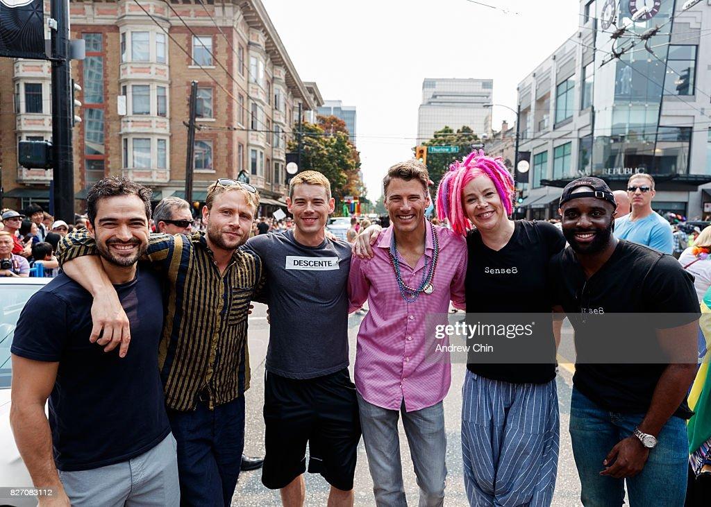 "Netflix's ""Sense8"" Cast Attends Vancouver Pride Parade : News Photo"
