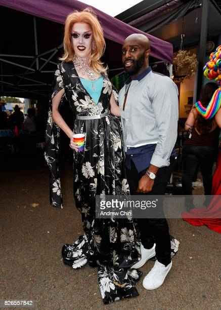 Netflix's Sense8 cast Toby Onwumere attends Davie Street Block Party on August 4 2017 in Vancouver Canada