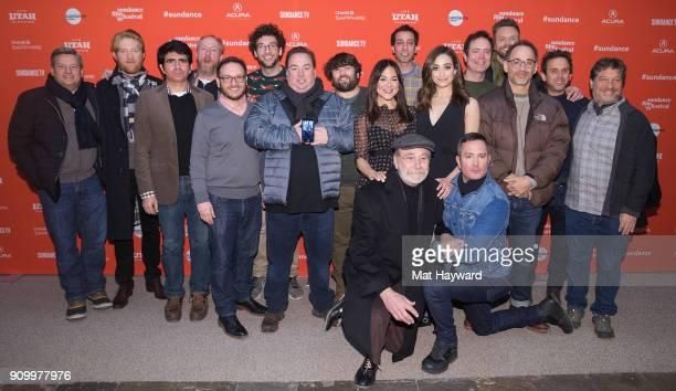 Netflixs Ted Sarandos Domhnall Gleeson Screenwriter John Aboud Matt Walsh Screenwriters Michael Colton Rick Glassman Producer Peter Principato John...
