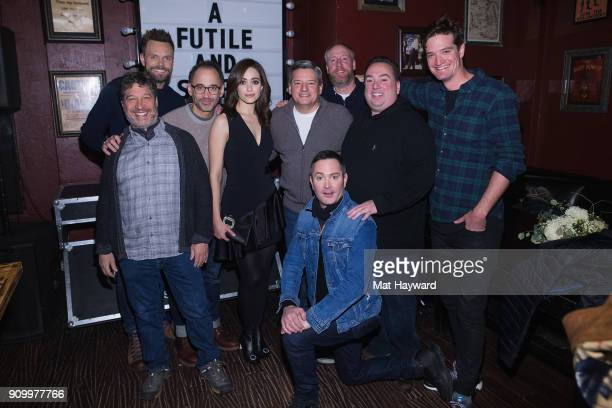 Netflixs Ted Sarandos Producers Peter Principato and Jonathan Stern Director David Wain Emmy Rossum Joel McHale Matt Walsh Collin Creighton and Tom...