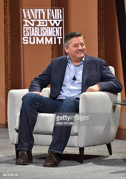 Netflix's Ted Sarandos speaks onstage during Which Way LA The New Business of Hollywood at the Vanity Fair New Establishment Summit at Yerba Buena...