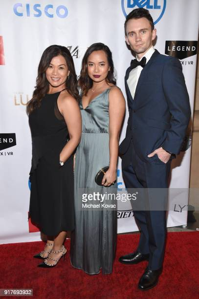 Netflix's Tricia Del Rosario Corinne Siaunco and Steven Dawson attend the Advanced Imaging Society 2018 Lumiere Awards presented by Dell and Cisco at...