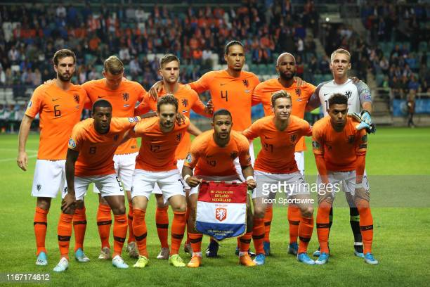 Netherland National team during UEFA EURO 2020 Qualifying match between Estonia and Netherlands on September 09 2019, at Le Coq Arena Stadium in...