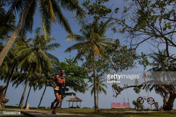Netherland triathlon athletes Wouter Van Der Kolk during 2018 Rhino Cross Triathlon at Tanjung Lesung Banten Indonesia on September 30 2018 He take...