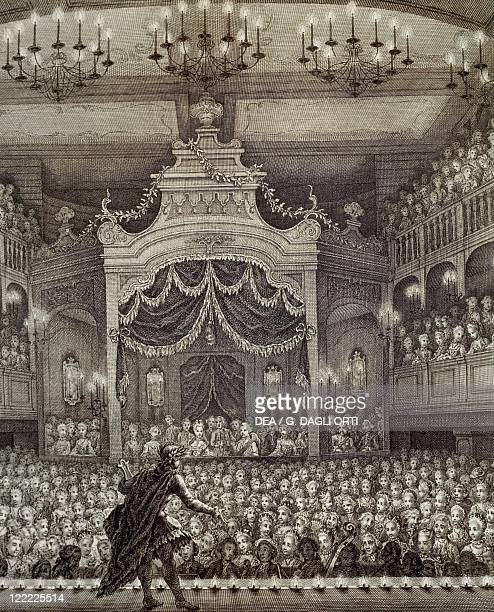 Netherlands Actor at the Amsterdam Opera engraving 1768