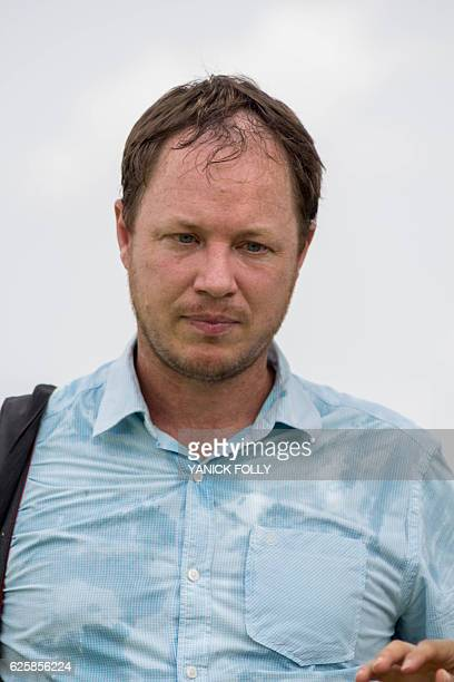 Netherlands' AfricaRice research institute Sander Zwart looks on as he visits a 'smart valley' benefitting from new irrigation system on November 21...