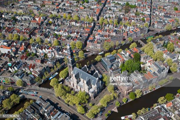 Netherlands, Amsterdam, Aerial of city centre