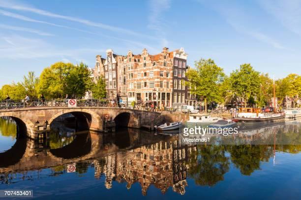 Netherlands, Amsterdam, Brouwersgracht and Prinsengracht