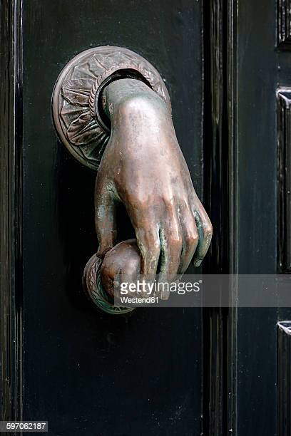 netherlands, amsterdam, old door knocker - door knocker stock photos and pictures