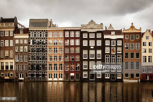 Netherlands, Amsterdam, Row of houses at a gracht