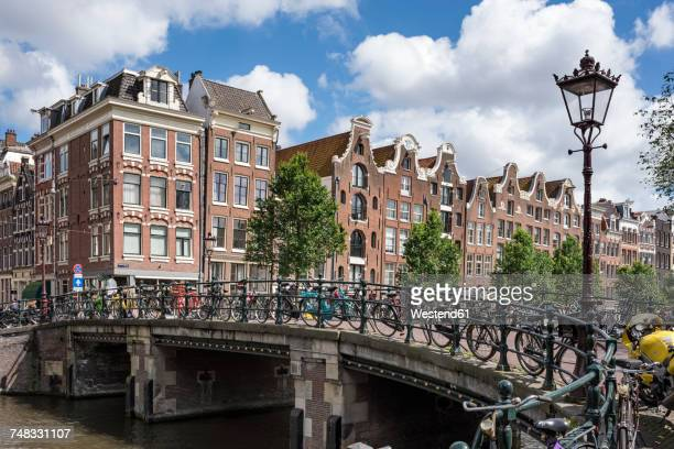 Netherlands, Amsterdam, town canal bridge in the old town