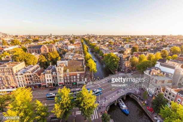 Netherlands, Amsterdam, view to the city from above