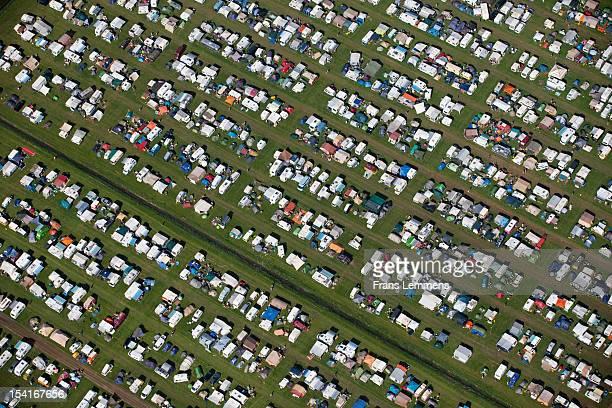 netherlands, biddinghuizen, campers campsite - biddingshuizen stockfoto's en -beelden