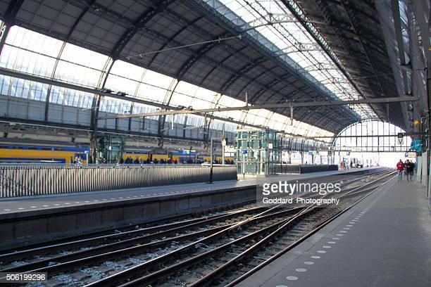Netherlands: Central Station in Amsterdam