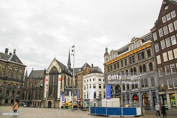 netherlands: de nieuwe kerk in amsterdam - nieuwe kerk delft stock photos and pictures
