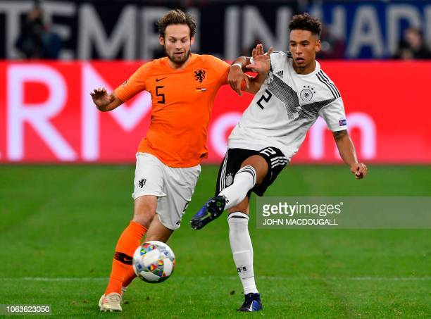 Netherlands' defender Daley Blind vies with Germany's defender Thilo Kehrer during the UEFA Nations League football match Germany v the Netherlands...