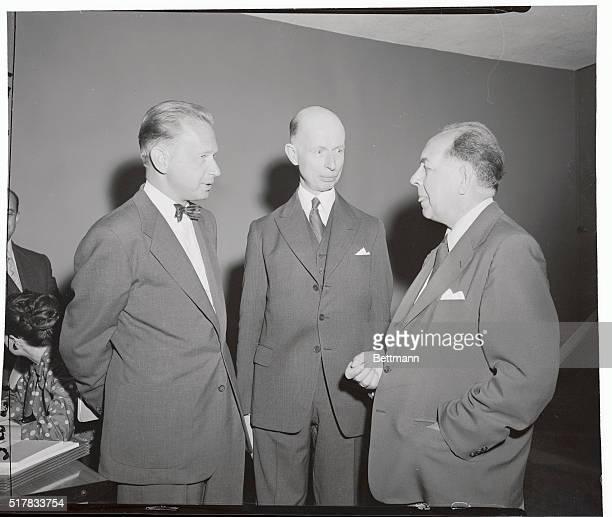 Netherlands delegation of the UN Dag Hammarskjold Elco Van Kleffens and MDJ Von Ballvseck