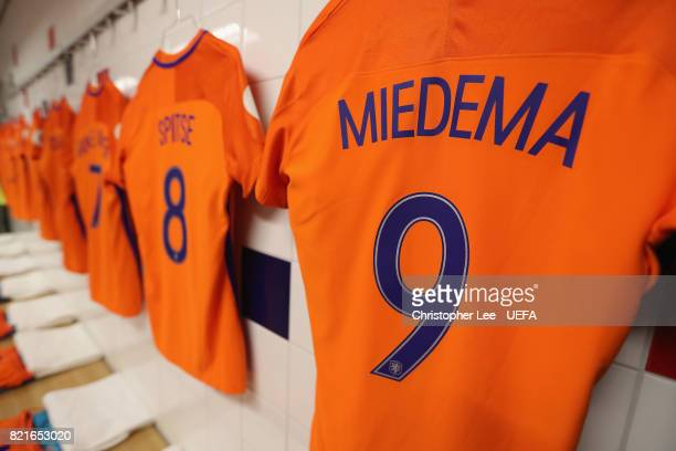 Netherlands dressing room during the UEFA Women's Euro 2017 Group A match between Belgium and Netherlands at Koning Willem II Stadium on July 24 2017...