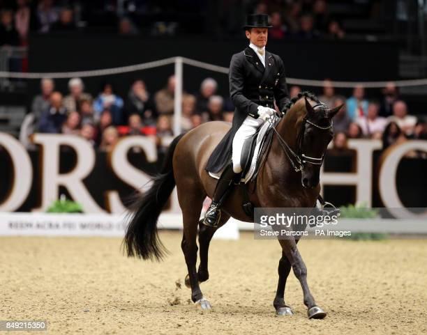 Netherlands Edward Gal Riding Glocks Undercover In The Reem Acra FEI World Cup Dressage Leg Grand