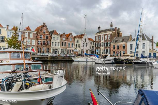 Netherlands, Goes, view to harbour and city