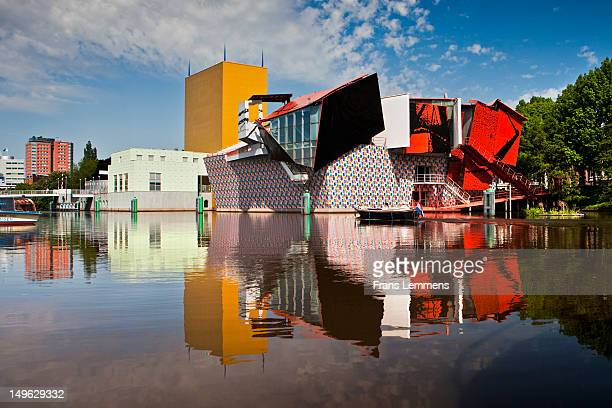 netherlands, groningen, the groninger museum - groningen province stock photos and pictures