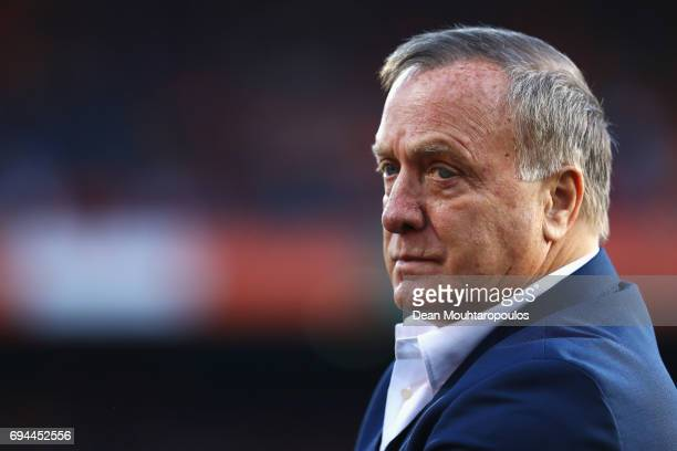 Netherlands Head Coach / Manager Dick Advocaat looks on during the FIFA 2018 World Cup Qualifier between the Netherlands and Luxembourg held at De...
