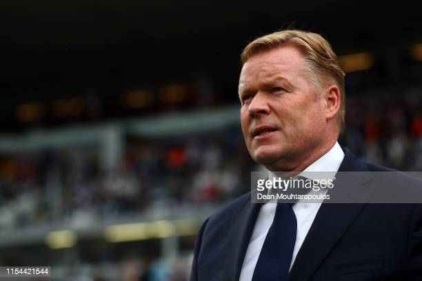 Netherlands Head coach / Manager, Ronald Koeman looks on prior to the UEFA Nations League Semi-Final match between the Netherlands and England at...