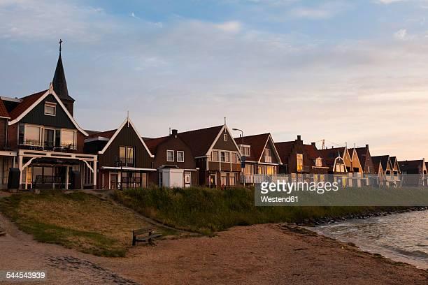 Netherlands, Ijsselmeer, Volendam, captains houses