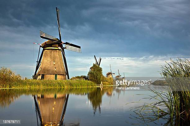 Netherlands, Kinderdijk, Windmills