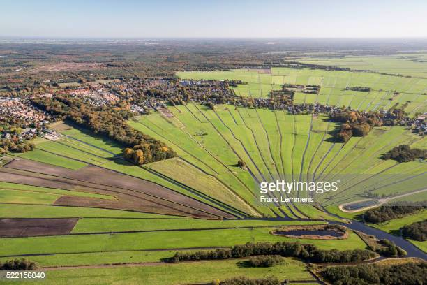 netherlands, loosdrecht, streams float to small river - north holland stock pictures, royalty-free photos & images