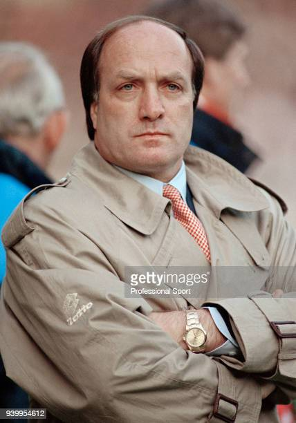 Netherlands manager Dick Advocaat looks on during the FIFA World Cup Qualifier between England and the Netherlands at Wembley Stadium on April 28...