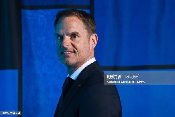 Netherlands manager Frank De Boer poses during the official UEFA Euro 2020 media access day on June 07, 2021 in Zeist, Netherlands.