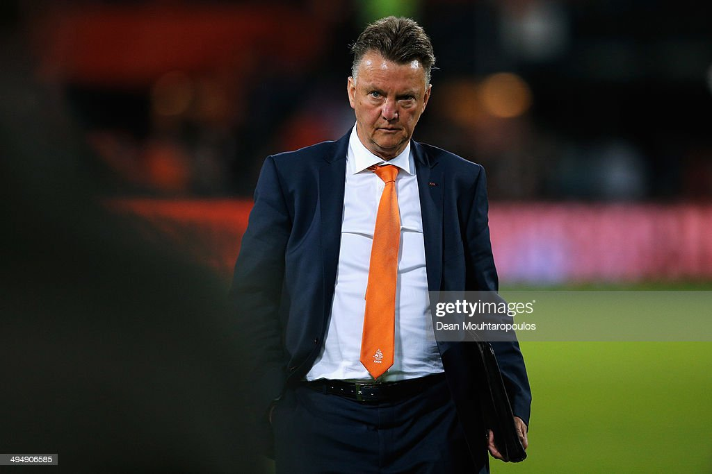 Netherlands Manager, Louis van Gaal walks off the ground at full time during the International Friendly match between Netherlands and Ghana at De Kuip on May 31, 2014 in Rotterdam, Netherlands.