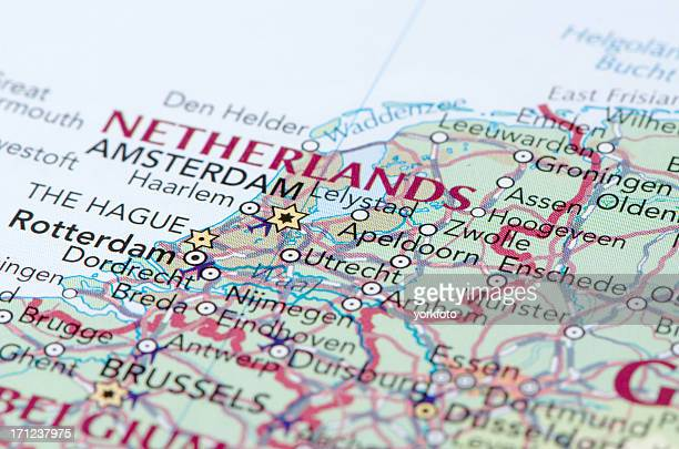 netherlands map - cartography stock photos and pictures