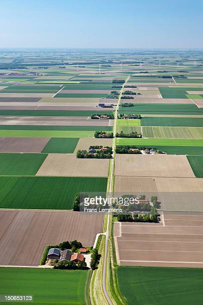 Netherlands, Nagele, Farms in Flevo polder
