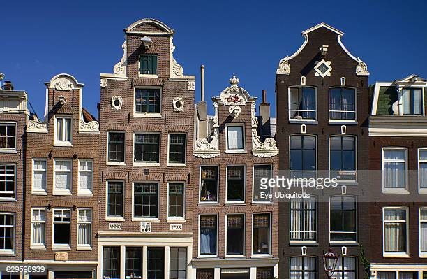 Netherlands Noord Holland Amsterdam typical canal housing along the Herengracht