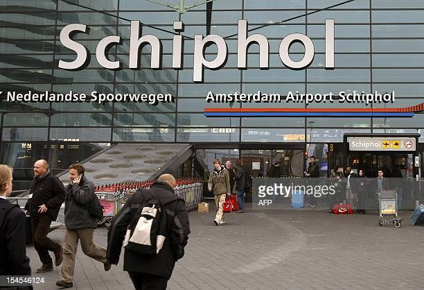 netherlands out belgium out Front view taken on February 14 2008 of the main entrance of AmsterdamSchiphol airport in Netherlands AmsterdamSchiphol...
