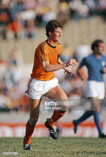 Netherlands player Ernstus Brandts in action during an International match against Italy in Montevideo on January 6 1981 in Montevideo Uruguay