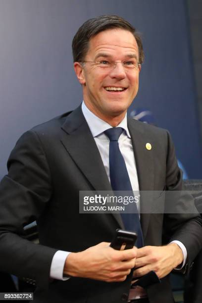 Netherland's Prime minister Mark Rutte arrives to attend an EU summit at which 27 European leaders are to approve opening the next phase of Brexit...